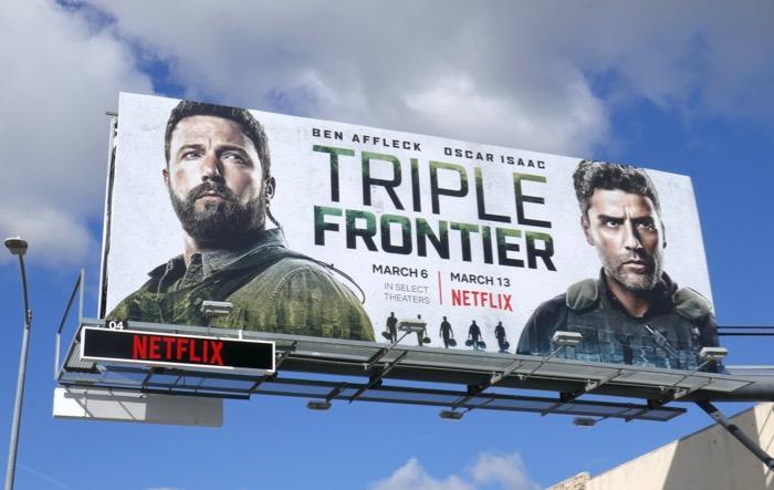Ben Affleck Oscar Isaac Triple Frontier billboard