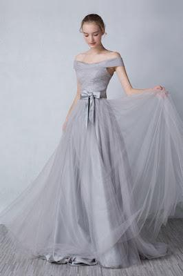 robe-bustier-grise-epaule-nue-longue robe cérémonie
