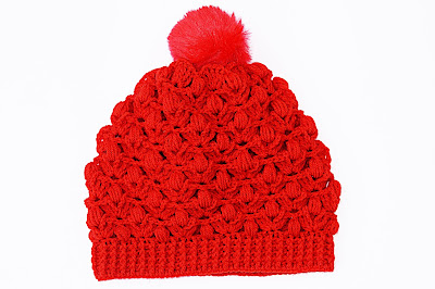 Imagen de Gorro rojo a crochet y ganchillo 2