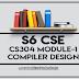 Module-1 Note for CS304 Compiler Design | S6 CSE