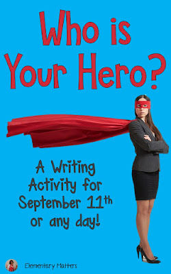 Celebrate Heroes: September 11th is a tough day to honor with little ones, but this discussion and writing prompt has been a success in my classroom. It includes a freebie!