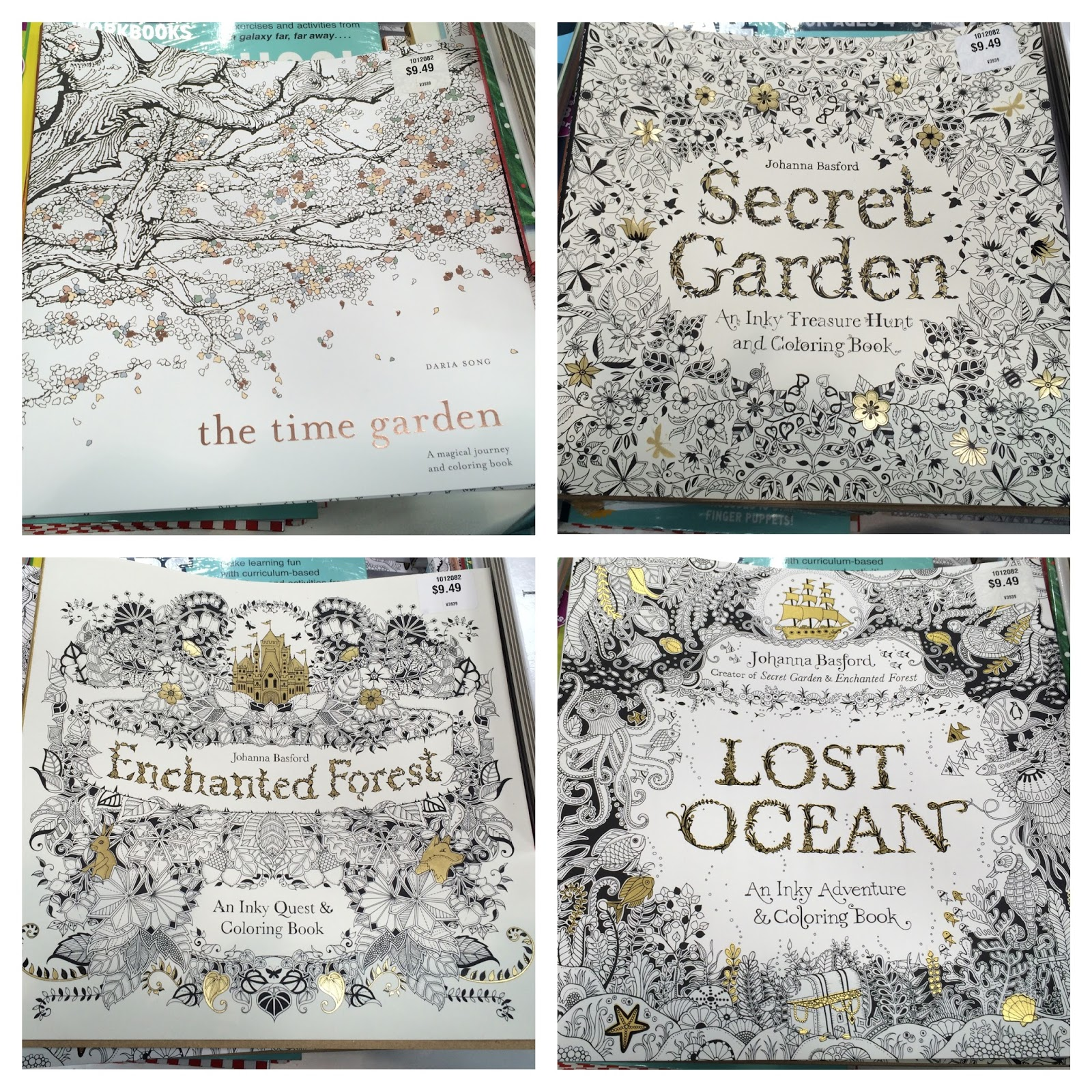 Coloring Books From Johanna Bedford Like Secret Garden Enchanted Forest And Lost Ocean Or The Time By Daria Song I Picked Up