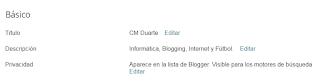Titulo y descripcion en Blogger