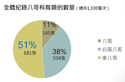家八哥51%,白尾八哥38%,八哥11%