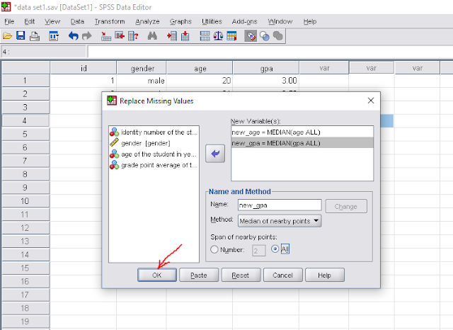 replacing missing value analysis