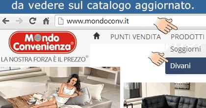 Risparmiello mondo convenienza divani prezzi in offerta for Divani offerta mondo convenienza