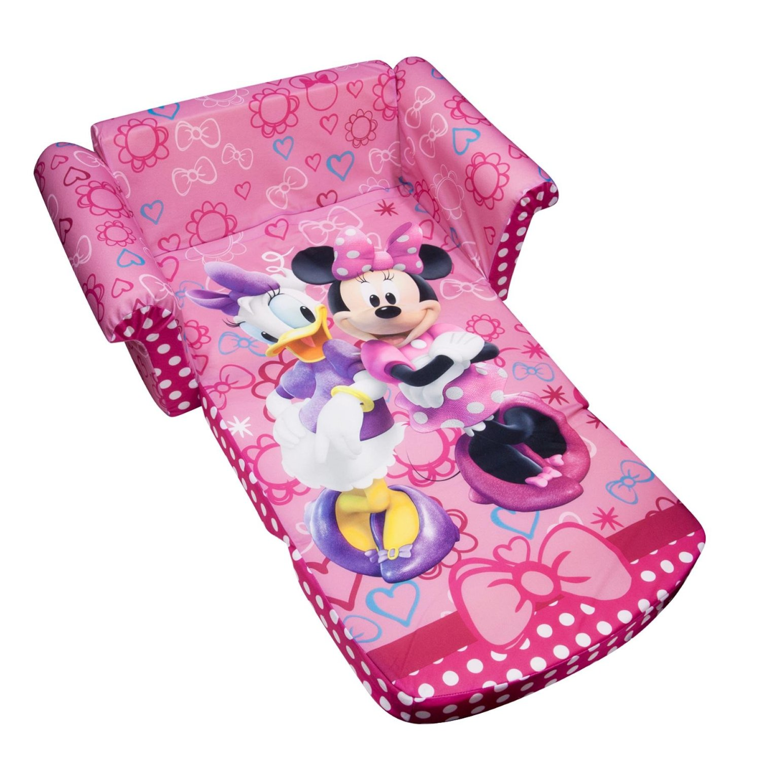 minnie mouse recliner chair small occasional total fab chairs fold out couches and flip sofas