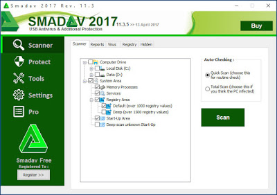 Smadav PRO Revisi 11.3.5 Terbaru 2017 Full Serial Number