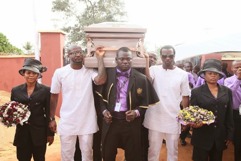 peter okoye crying dad burial