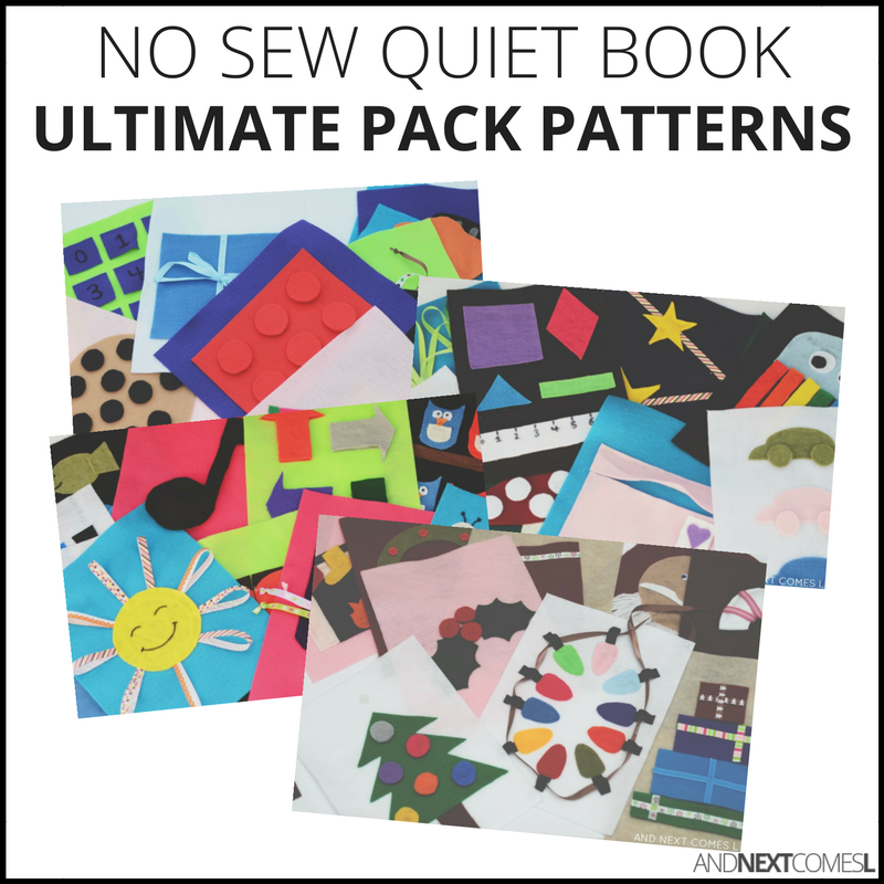 No sew quiet book patterns pack