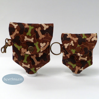 Camo Dog Bones Hand Sanitizer Bottle Covers