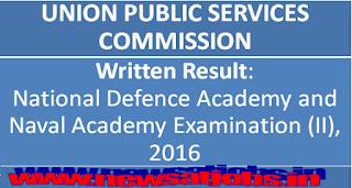 upsc-written-result-nda-and-na-Examination-II-2016
