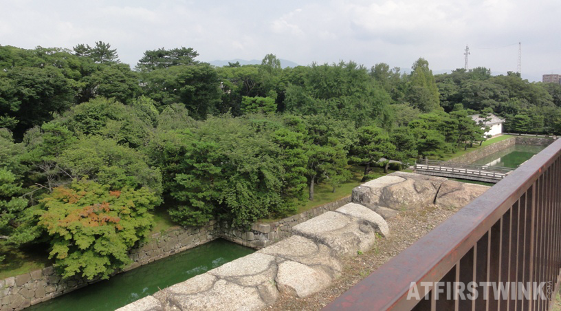 Nijo Castle (二条城)  Kyoto Japan honmaru palace view from donjon