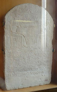 Stela depciting Amenhotep and his son Ipy