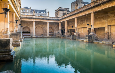 Roman Baths - Roman sites in England