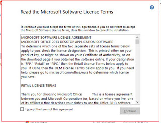 Accept license agreement ms office