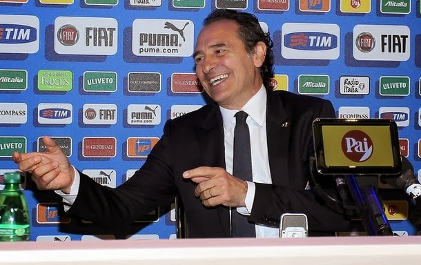 Translations of the current Azzurri manager, Cesare Prandelli.