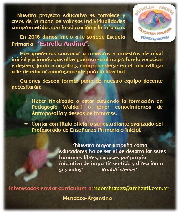 Movimiento antropos fico en mendoza argentina for Convocatoria maestros 2016