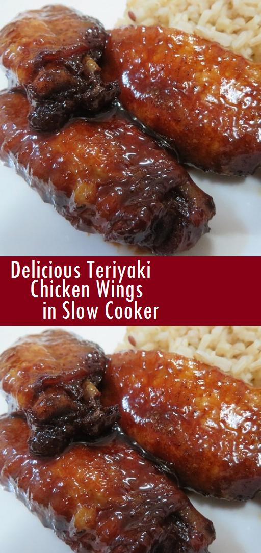 Delicious Teriyaki Chicken Wings in Slow Cooker