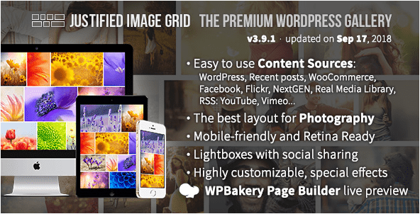 Justified Image Grid Photo Gallery Plugin