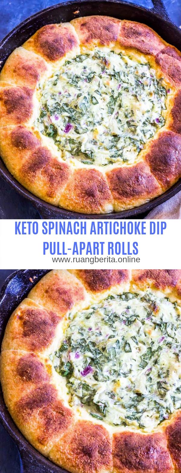 KETO SPINACH ARTICHOKE DIP PULL-APART ROLLS