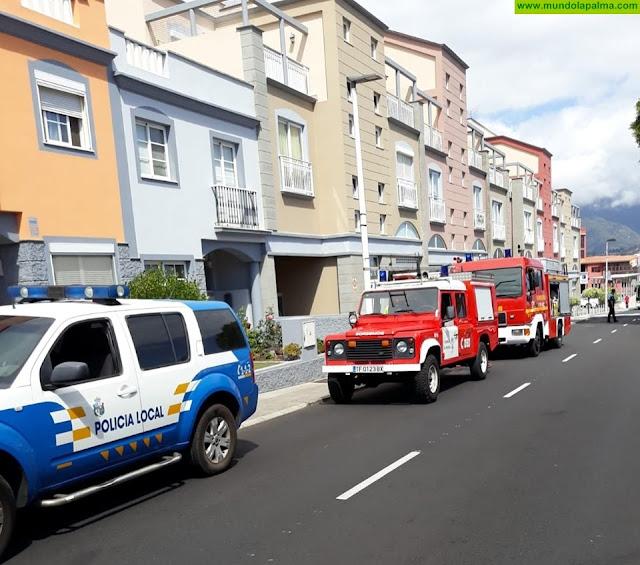 Los Bomberos extinguieron ayer dos incendios uno en Breña Baja y otro en Los Llanos de Aridane