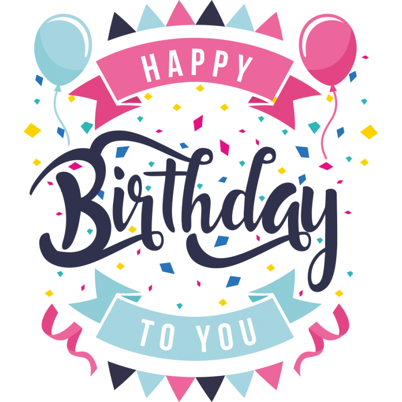 Happy Birthday Transparent PNG Image & Clipart