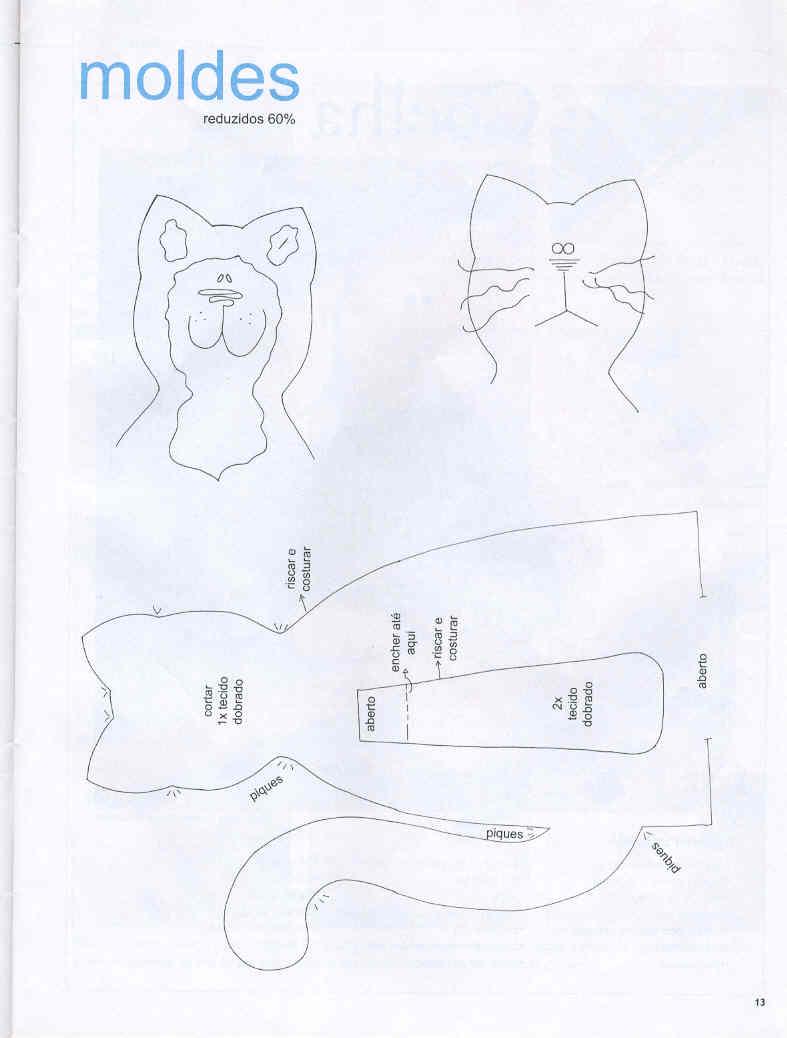 pag.+10 - molde gato em tecido