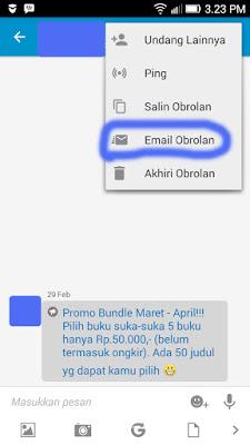 Backup chat BBM