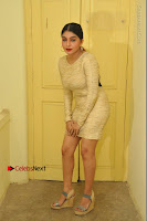 Actress Pooja Roshan Stills in Golden Short Dress at Box Movie Audio Launch  0016.JPG