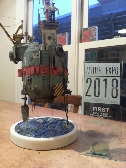 The Seahorse won First in the Scratchbuilt category at the 2018 Australian Model Expo