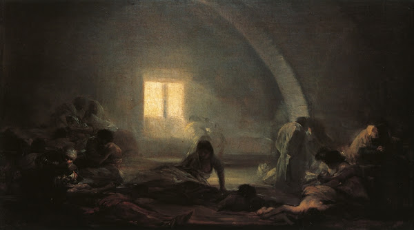 Plague Hospital by Francisco Goya, Macabre Art, Macabre Paintings, Horror Paintings, Freak Art, Freak Paintings, Horror Picture, Terror Pictures