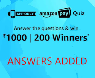 answer amazon pay quiz time contest answer today