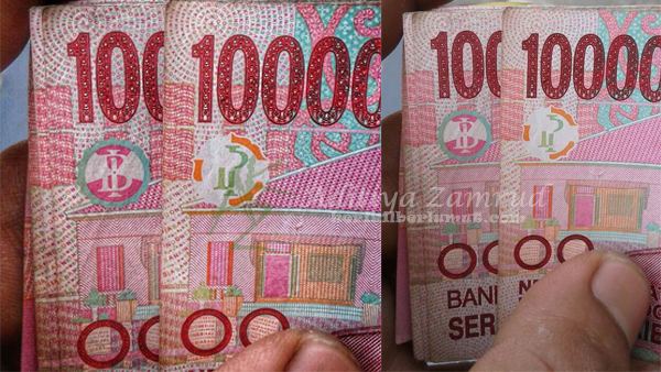 Gambar Palu dan Arit di Uang Seratus Ribu Rupiah