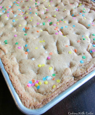 pan of blondies fresh from the oven