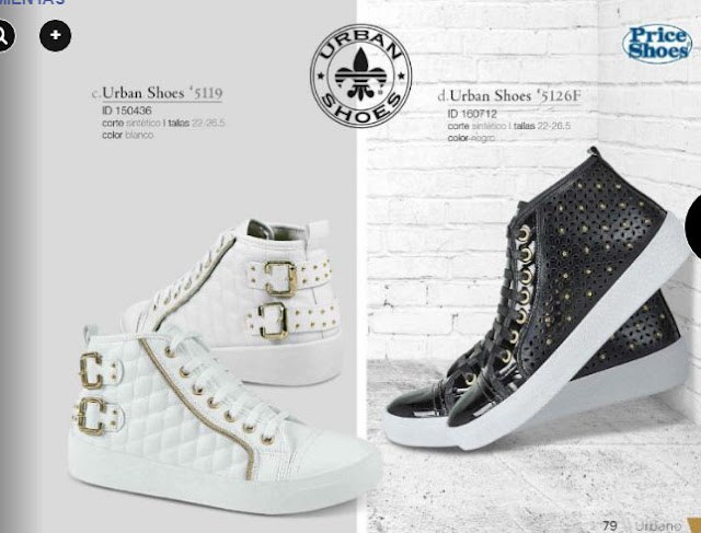 Catalogo Price shoes  urbano 2017 | zapatillas