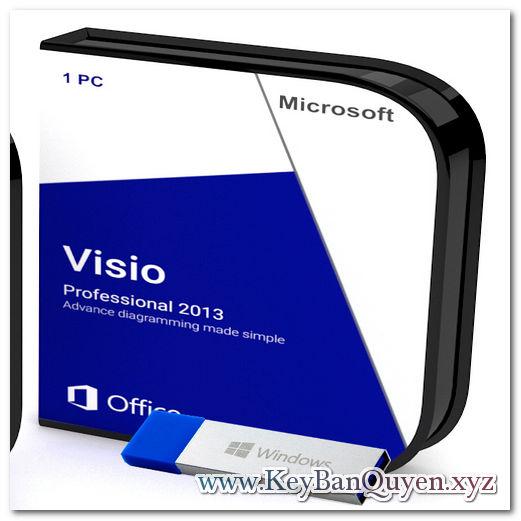 Mua bán key bản quyền Visio Professional 2013 Full 32 và 64 Bit