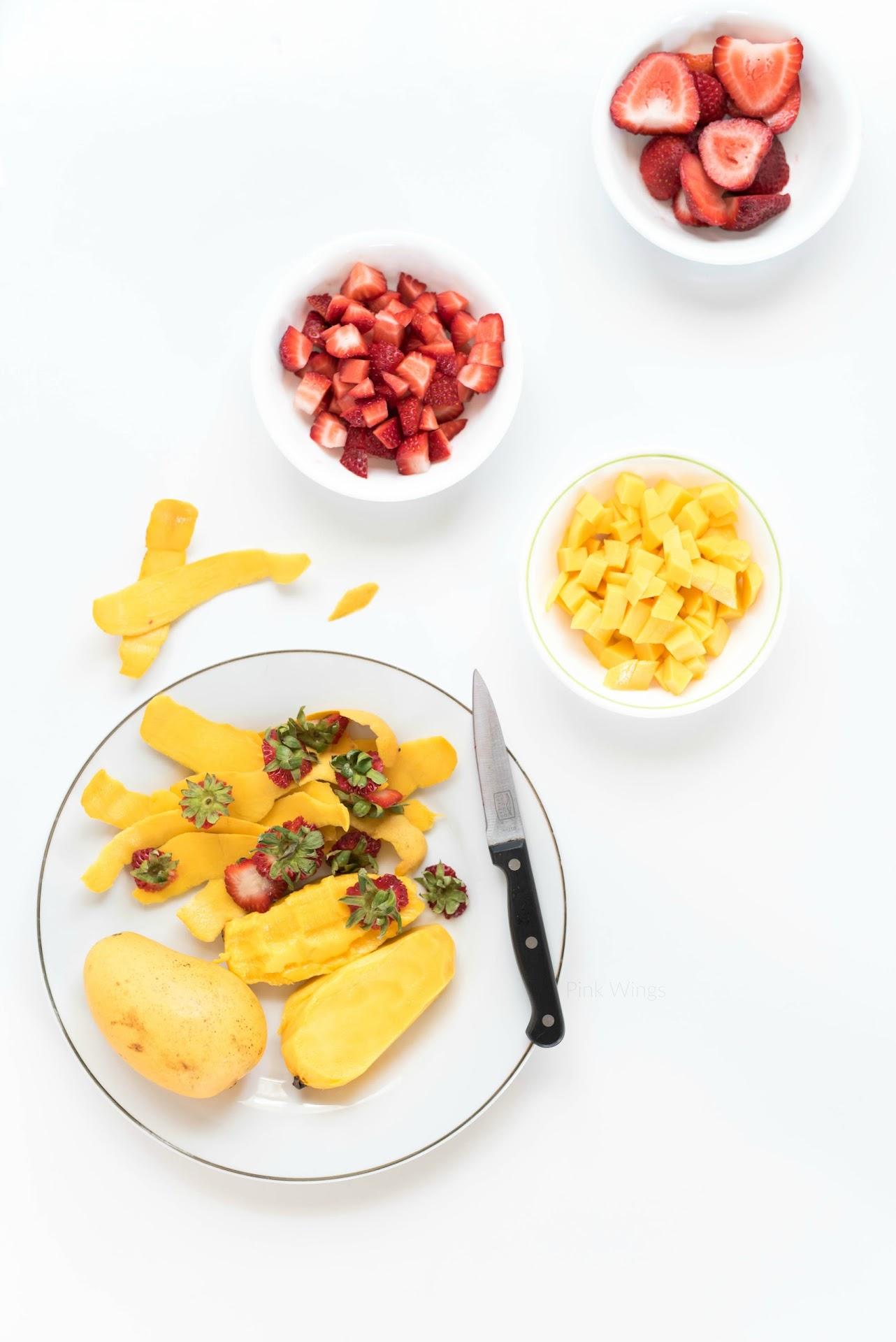 mango recipe, strawberry, refreshing summer recipes, unique summer recipes, asian food blog