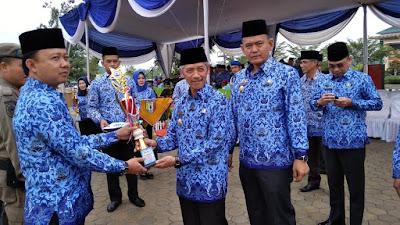 HUT Korpri di Pringsewu, Jokowi Punya Pesan Spesial Buat Bumi Secancanan