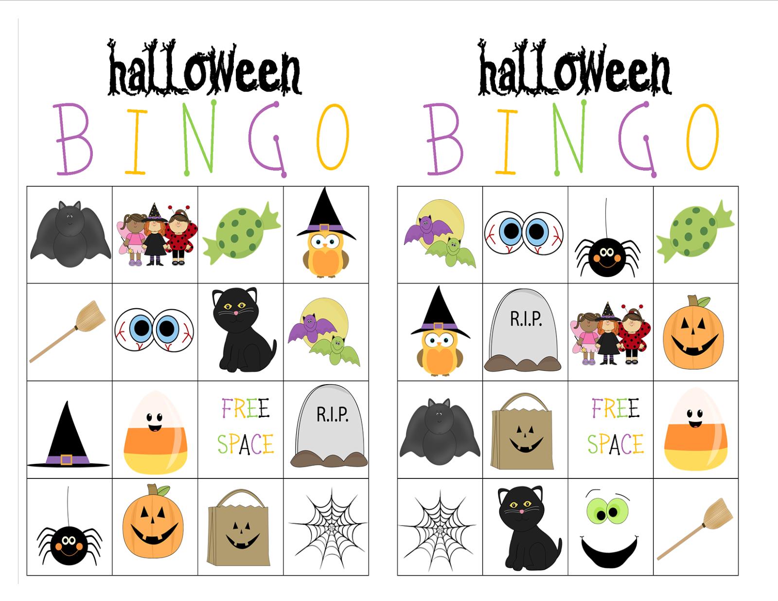 Recipes From Stephanie Halloween Bingo