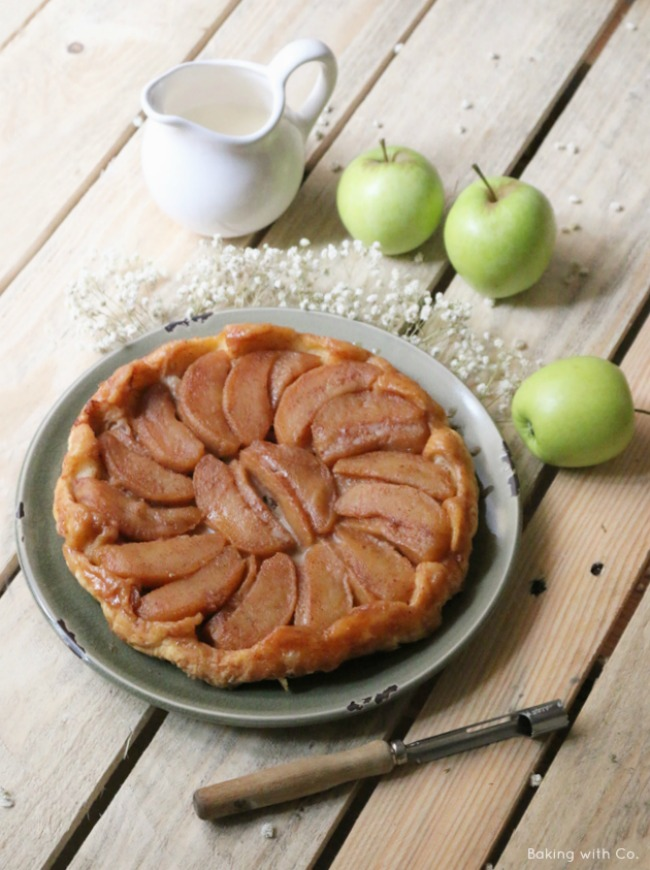 tarta manzanas caramelizadas