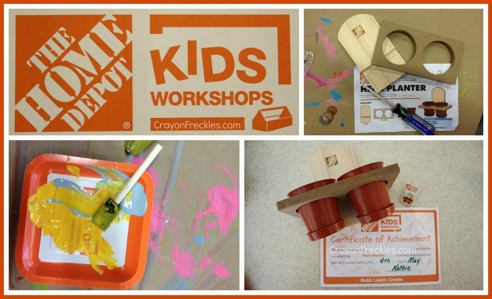 Crayon Freckles Home Depot Kid S Workshops