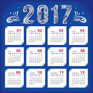 2017カレンダー無料テンプレート227
