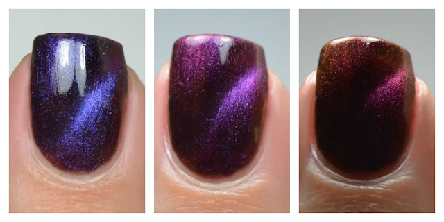 color shifting magnetic multichrome cat eye nail polish