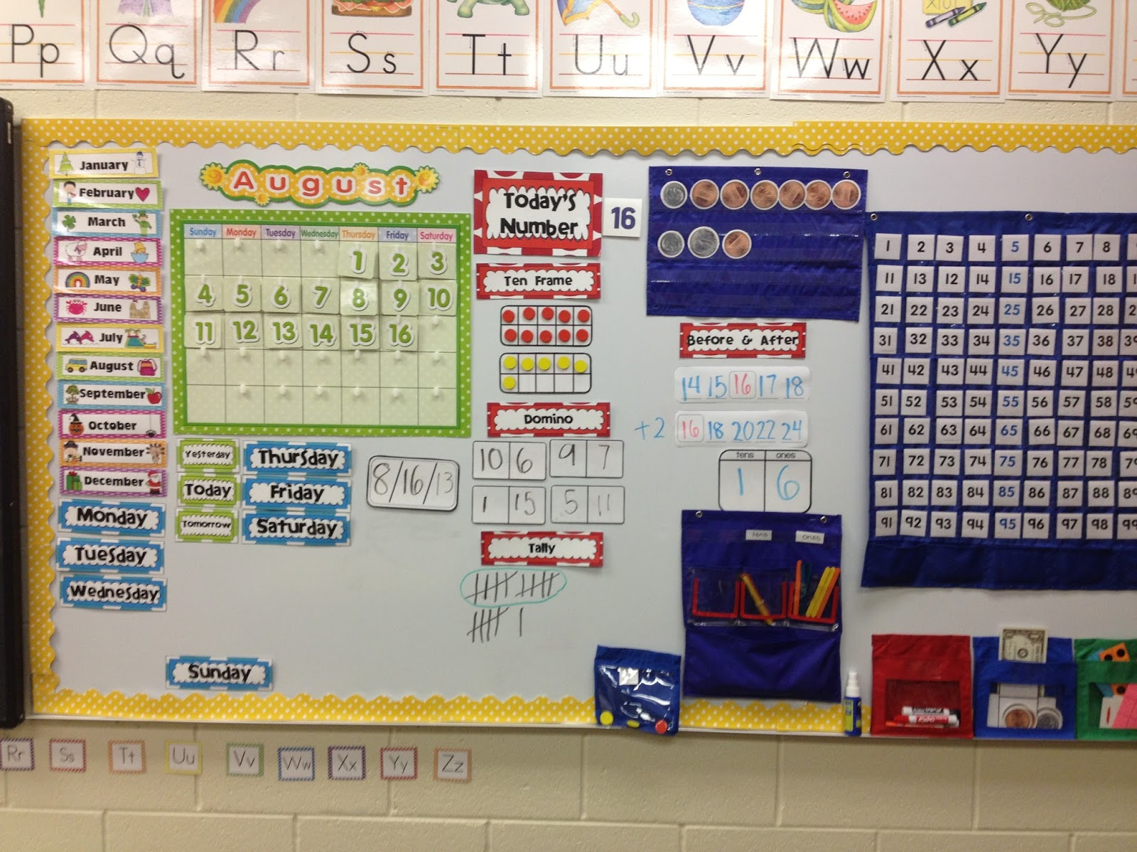 Kroger S Kindergarten Today S Number Calendar Routine