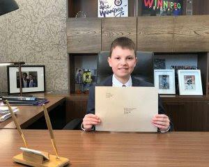 14-річний українець на один день став мером канадського міста