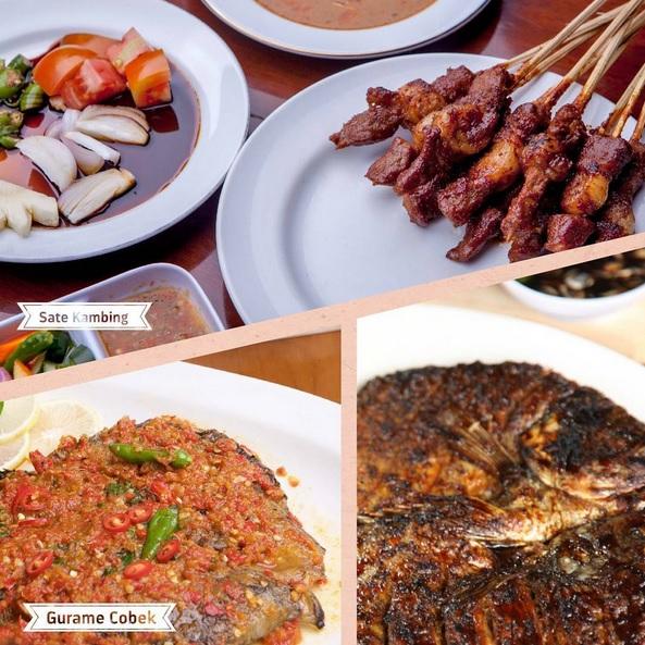 Menu makanan Aneka sate dan ikan  Bumi Aki