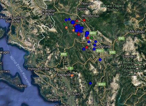 Πέντε σεισμικές δονήσεις την τελευταία ώρα