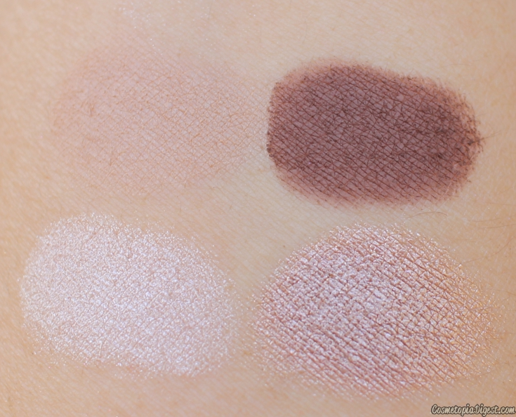 Review and swatches of the Fleur de Force Eyeshadow Quad in Cosmic Bronze.