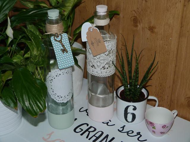 isabelvintage-vintage-botella-cristal-decorada-chalk paint